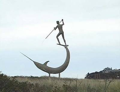 Swordfish Mixed Media - Swordfish Harpooner -menemsha by Jay Lagemann