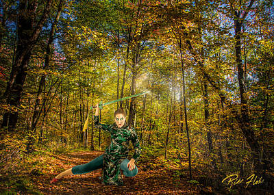 Photograph - Swords Woman by Rikk Flohr