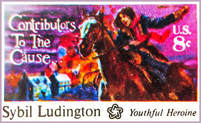 Bicentennial Painting - Sybil Ludington by Lanjee Chee