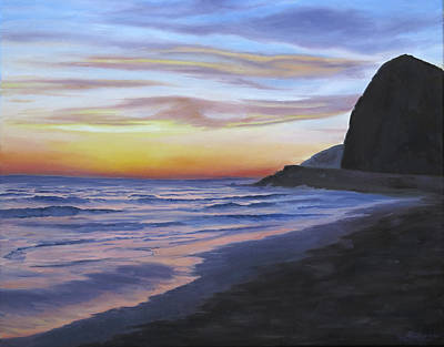 Malibu Painting - Sycamore Canyon Beach by Sue Birkenshaw
