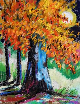 Jmwportfolio Painting - Sycamore Moon by John Williams