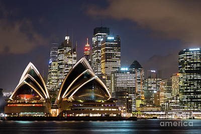 Sydney After Dark Art Print by Andrew Michael