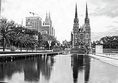 Photograph - Sydney And St Mary's Cathedral by Miroslava Jurcik