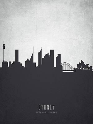 Sydney Painting - Sydney Australia Cityscape 19 by Aged Pixel