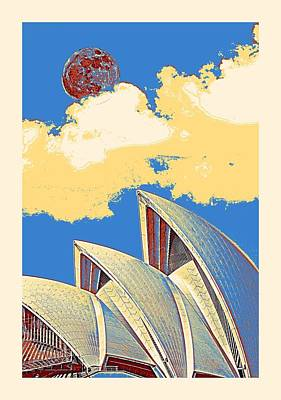 Painting - Sydney, Australia Travel Poster 2 by Adam Asar