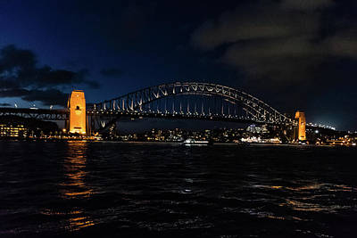 Photograph - Sydney Bridge At Night by Steven Richman