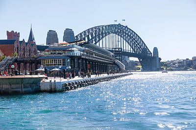 Sydney Bridge Art Print by Niel Morley