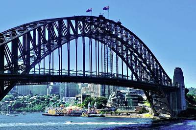 Photograph - Sydney Bridge With Luna Park by Kirsten Giving