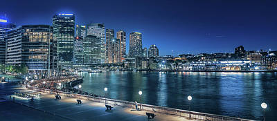 Sydney Skyline Photograph - Sydney By Night by Emanuele Carlisi