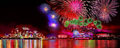 Sydney Harbour Photograph - Sydney Celebrates by Az Jackson