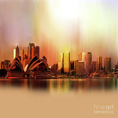 Sydney City Scape  Original by Gull G