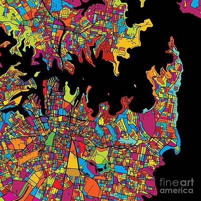 Sydney Colorful Map Original