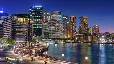 Sydney Skyline Photograph - Sydney Colourful By Night by Emanuele Carlisi