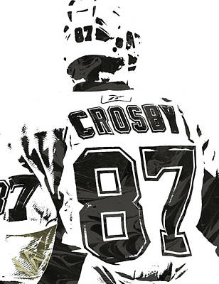 Penguin Mixed Media - Sydney Crosby Pittsburgh Penguins Pixel Art 2 by Joe Hamilton