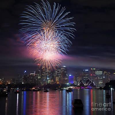 Sydney Fireworks Art Print by Matteo Colombo