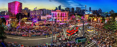 Skylines Royalty-Free and Rights-Managed Images - Sydney Gay and Lesbian Mardi Gras Parade by Az Jackson