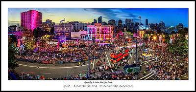 Skyline Photograph - Sydney Gay And Lesbian Mardi Gras Parade Poster Print by Az Jackson