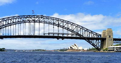 Photograph - Sydney Harbor Bridge And Opera House by Carla Parris