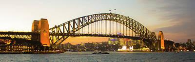 Photograph - Sydney Harbor Bridge At Night by Jeff Pfaller