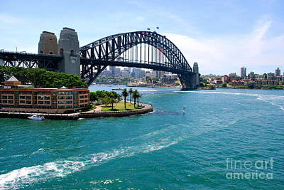 Sydney Harbor Bridge Art Print by Johanne Peale