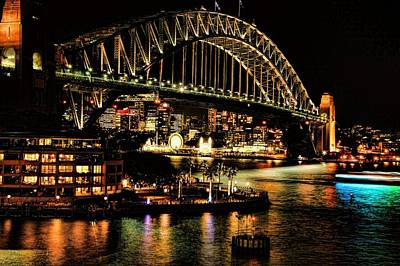 Photograph - Sydney Harbor Bridge Vivid Festival by Diana Mary Sharpton