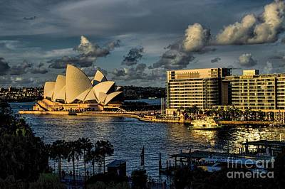 Photograph - Sydney Harbor Clarity At Sunset by Diana Mary Sharpton