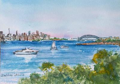 Painting - Sydney Harbor by Debbie Lewis