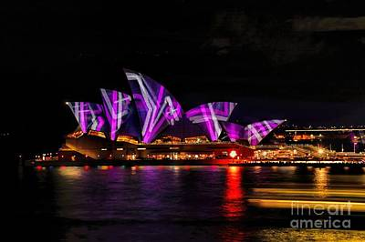 Photograph - Sydney Harbor Opera House by Diana Mary Sharpton