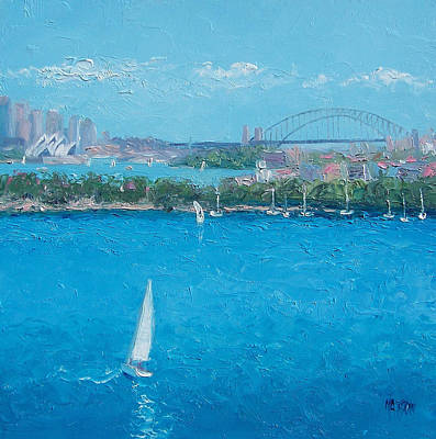 Australian Holiday Painting - Sydney Harbour And The Opera House Vacation by Jan Matson