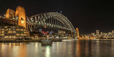 Photograph - Sydney Harbour At Night by Racheal Christian
