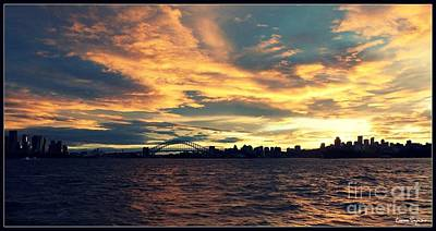 Sydney Harbour At Sunset Art Print