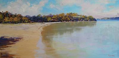 Impressionist Beach Painting - Sydney Harbour Beach by Graham Gercken