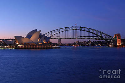 Photograph - Sydney Harbour Bridge And Opera House by David Iori