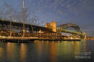 Photograph - Sydney Harbour Bridge At Dusk by David Iori
