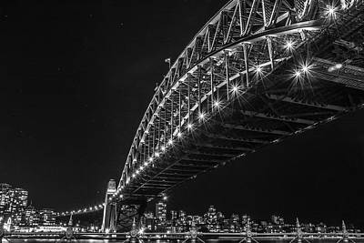 Photograph - Sydney Harbour Bridge At Night by Racheal Christian
