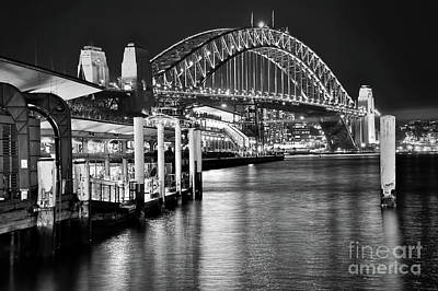 Photograph - Sydney Harbour Bridge Black And White By Kaye Menner by Kaye Menner