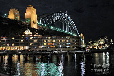 Photograph - Sydney Harbour Bridge From Campbells Cove by David Iori