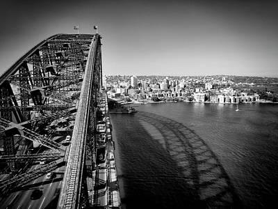 Outlook Photograph - Sydney Harbour Bridge Monochrome by Melanie Viola