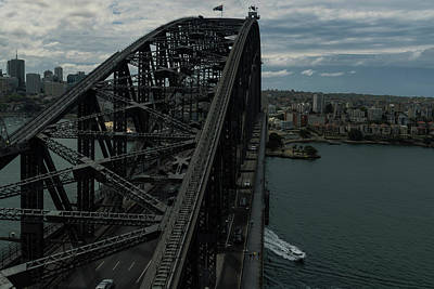 Photograph - Sydney Harbour Bridge View From Tower by Steven Richman