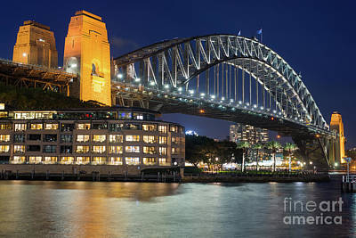 Photograph - Sydney Harbour Bridge With Hyatt Park Hotel by Andrew Michael
