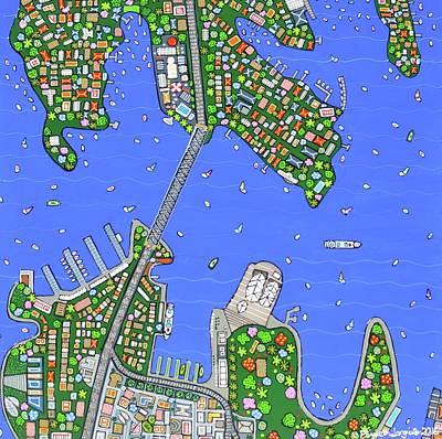 Painting - Sydney Harbour by Elizabeth Langreiter