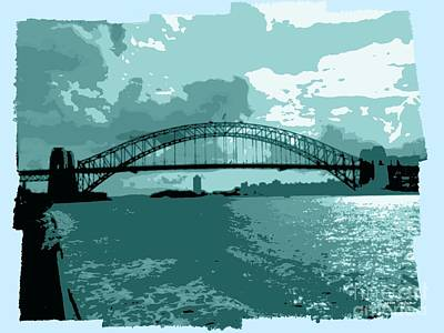 Photograph - Sydney Harbour Fantasy In Blue by Leanne Seymour