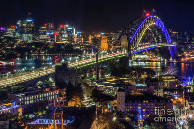 Photograph - Sydney Harbour Glow by Paul Woodford