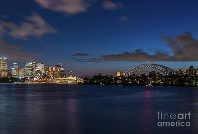 Photograph - Sydney Harbour Lights by Andrew Michael