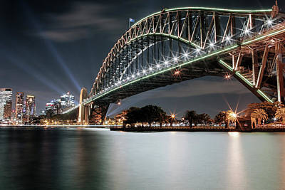 Photograph - Sydney Harbour Lights by Smoked Cactus