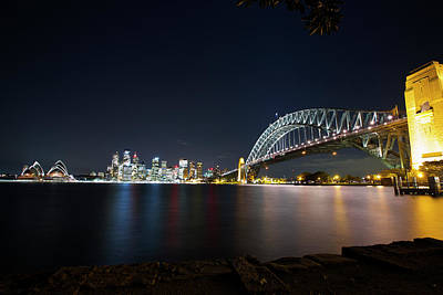 Photograph - Sydney Harbour Silk by Smoked Cactus