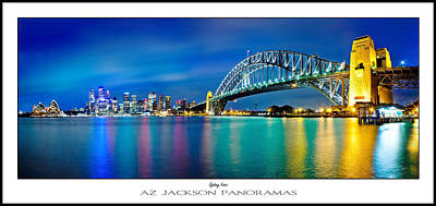 In-house Photograph - Sydney Icons Poster Print by Az Jackson