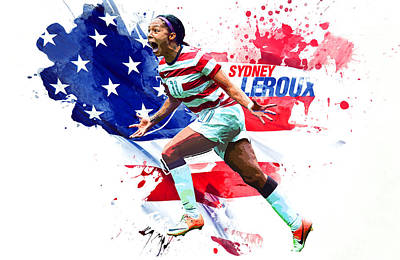 Landon Donovan Digital Art - Sydney Leroux by Semih Yurdabak