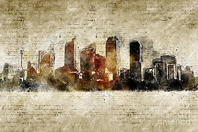 Digital Art - Sydney Modern And Abstract Skyline by Michael Kuelbel