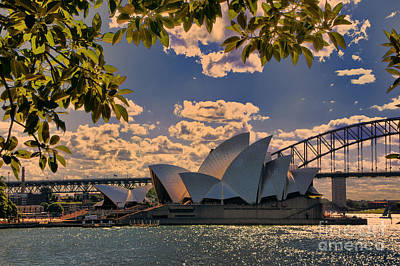 Photograph - Sydney Opera At Dusk by Rick Bragan